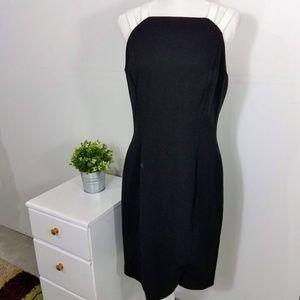 Lauren Ralph Lauren Black Strappy Suiting Dress